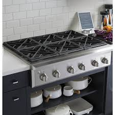 Kitchen Appliance Shop Ge Cafe 6 Burner Gas Cooktop Stainless Steel Common 36 In