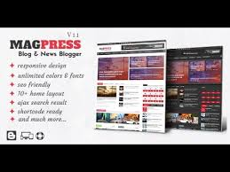 responsive blogger templates magpress 3 1 magazine responsive blogger templates youtube