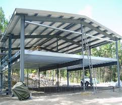 Metal Frame Prefabricated Shed Building