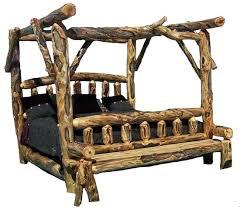 Log Bed Frame King King Log Bed Cheap Frame Discount Bedroom ...