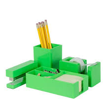 colorful office accessories. Brighten Up Green Desk Accessories Set Colorful Office