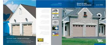 brochure for steel garage doors series 8000 1 2 pages
