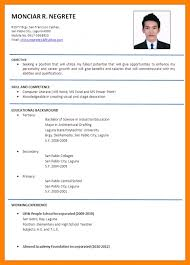 College Application Resume Format Magnificent 48 Cv Format For Job Application Nanny Resumed Throughout Job