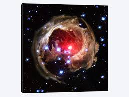 >v838 monocerotis hubble space telescope canvas wall art by nasa  v838 monocerotis hubble space telescope by nasa 1 piece canvas artwork