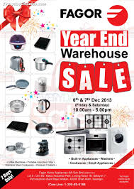 Warehouse Kitchen Appliances 6 7 Dec Fagor Year End Warehouse Sale For Cookware Appliances