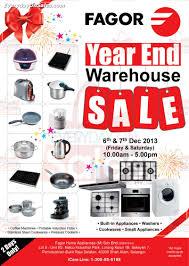 Warehouse Kitchen Appliances 6 7 Dec Fagor Year End Warehouse Sale For Cookware Appliances