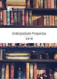 Prospectus And Brochures Qatar University