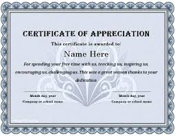 Sample Certificates Templates Word Appreciation Certificate Template Sample Certificates Templates