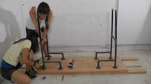 diy standing desk pipe. Beautiful Standing DIY Standing Desk  Attach The Legs On Diy Pipe T