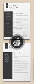 25 Simple Clean Cv Resume Templates With Cover Letters Resume