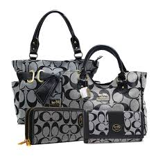 Coach Legacy In Signature Large Grey Satchels ACB+Grey Totes ANC+ ...