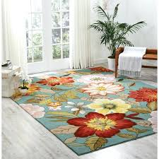 nourison area rugs jaipur ja36 red hand hooked fantasy blue fl rug 8 x