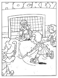 Kleurplaat Hockey Kleurplatennl
