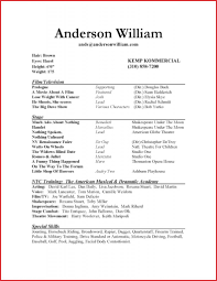 Acting Resume Template For Microsoft Word Download Rac2a9sumac2a9