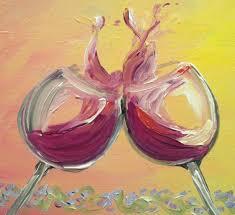 painted wine gl
