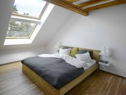 Bedroom:Fabulous Attic Home With Folding Attic Stairs Design And Big Window  Idea King Size