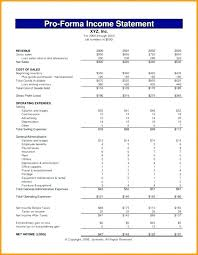 Business Plan Financial Statement Template