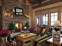 Living Room Decorating For Christmas Christmas Decor For Fireplace Mantel Christmas Living Room Ideas