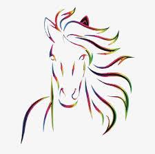 horse head clip art color. Delighful Color Five Colored Horses Color A Horse Horsehead PNG Image And Clipart And Horse Head Clip Art Color H