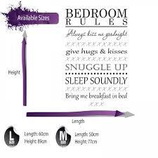 bedroom rules. bedroom wall sticker bedroom rules u