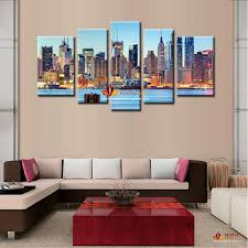 2018 canvas painting ideas city night art pictures landscape new york oil painting print on canvas modern home decor paintings from canvasart
