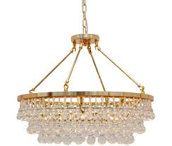 celeste glass drop crystal chandelier gold finish small