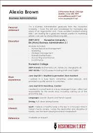 Resume 2017 Enchanting Business Administration Resume Examples 60
