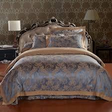 brand designs le silk embroidered bedding set king size 4pc comforter bedding set hot duvet