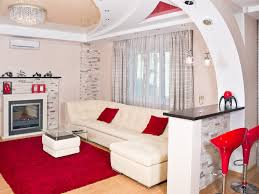 Red And White Living Room 24 Stupendous White With Sofa Pillows Rug