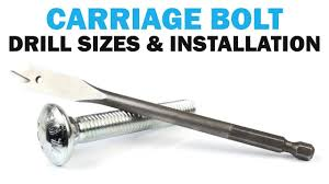 Carriage Bolt Sizes Chart Finding The Right Drill Size For Installing Carriage Bolts Quick Tips