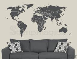 extra large world map vintage large world map wall decal