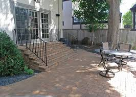 deck vs patio steps down from house