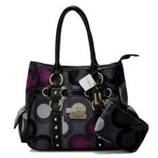 Coach Stud In Signature Small Grey Totes BIT Outlet Online Fashion Styles, designer handbags online,Coach Handbags