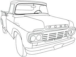 ford f150 coloring page old truck pages free hot rod classic to print