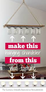 diy chandelier from hollywood style vanity light the summery umbrella on remodelaholic
