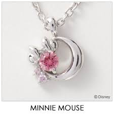 disney necklace disney minnie mouse moon silver jewelry accessories lady s pendant necklace vpcds20168 mini regular article