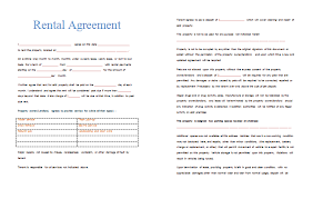 sample rental agreement letter rental agreement template