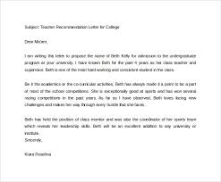 Free 20 College Recommendation Letters In Pdf Word