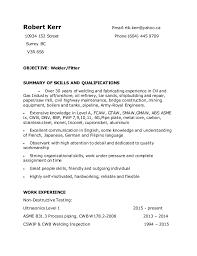 welding welder resumes robert kerr welder resume