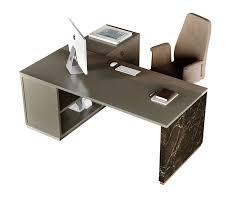 Scrivania Angolo Moderna : Scrivania ad angolo in legno stile moderno con alzata