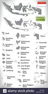 Card Outline Indonesia Card Outline Administration Borders State Atlas Map