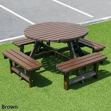 round picnic table lifetime plastic folding tables full size
