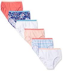 Hanes Girls Cotton Brief 6 Pack
