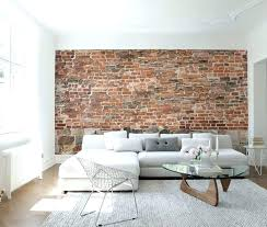 old brick wall wallpaper mural designed by interior design on white ideas
