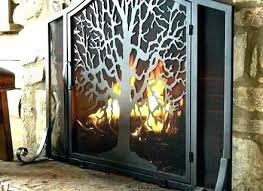 glass fireplace screen fire doors feet modern contemporary screens
