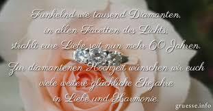 Glückwünsche Diamantene Hochzeit