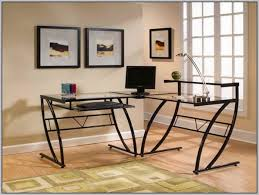 glass l shaped office desk. office desk walmart l shaped home design ideas glass