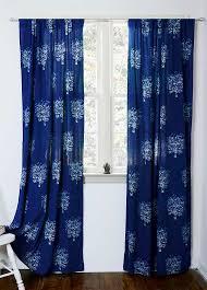 Indigo curtains window curtain Indigo blue bedroom - is sold per ...