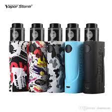 authentic vapor storm eco lion rda vape mod starter kit fashion box