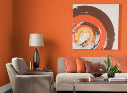 Living Room:Futuristic Orange Living Room Ideas With White Leather Sofa And  Drum Shape White